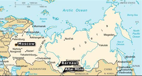 Where Is Siberia On A World Map.Altai
